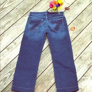 7FAM DOJO Crop Jeans Sz 27